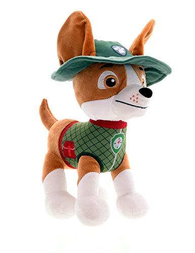 Dinotoys Peluche para perro de la Patrulla Canina Jungle Rescue | 28 cm | Chase Marshall Rocky Rubble Sky Tracker Zuma producto con licencia original para niños regalo figuras de peluche (rastreador)