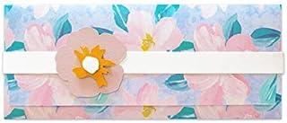 Porta soldi - fiore di pesco - matrimonio - busta portasoldi (formato 22 x 9,5 cm) + biglietto d'auguri vuoto all'interno ...