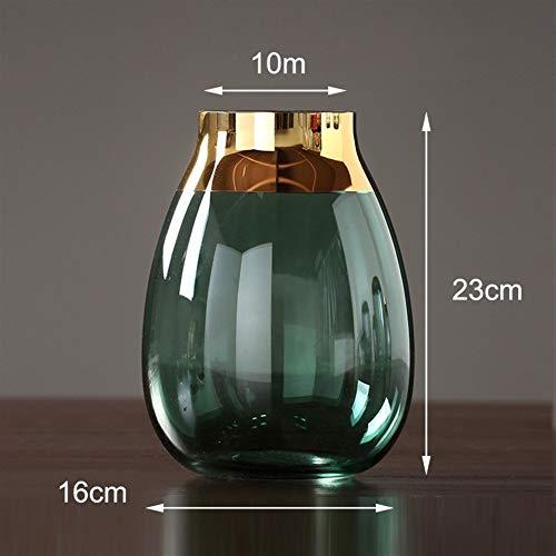 GZSC Moderne glazen vazen Grijs/groen terrarium glazen containers inrichting ambachten bloem vaas voor bruiloften huisdecoratie Decoratieve vaas