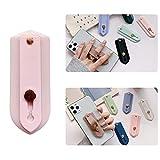 ZOQIZA Phone Grip Holder Portable Finger Strap Bracket Phone Loop Finger Kickstand for Universal Phone Charms (Light Pink_A)