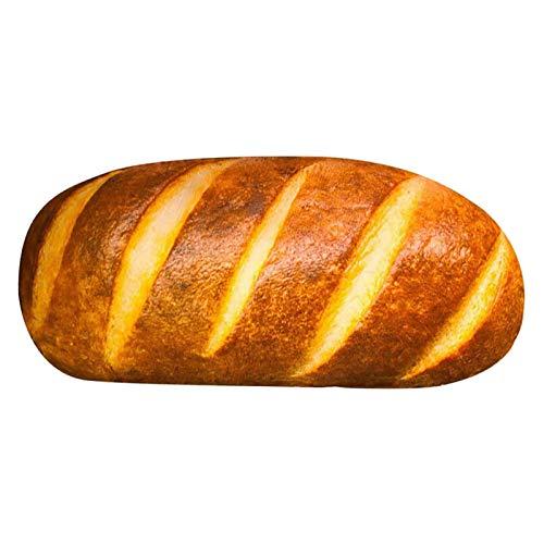 Rubyu-123 100cm Baguette PlüschKissen Schöner und Niedlich Plüschtier 3D-Kissen in Brot-Form, Heimdekoration, Lendenwirbel Rückenkissen Stofftier für Zuhause (100cm)