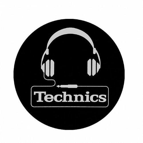 2x cuffie Technics Slipmats design con logo bianco