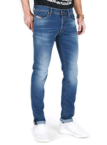 Diesel Sleenker Stretch Blue Denim Washed Men's Jeans 00S7GVG (33W x 32L, Blue 084YK)