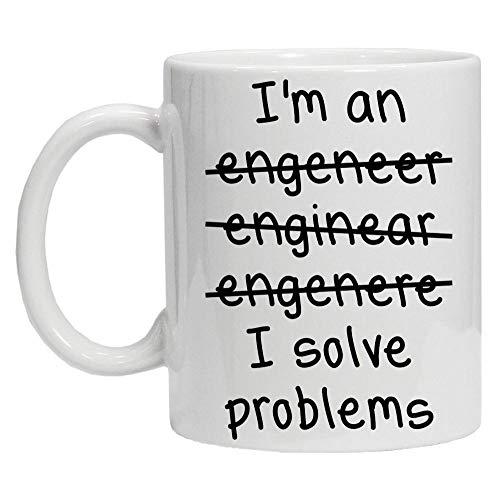 DDGFX Ich Bin EIN Ingenieur Ich Löse Probleme/Gut In Mathe Schlechte Rechtschreibung Kaffee Teebecher Fantastisches Geschenk-A_Foam_Packing