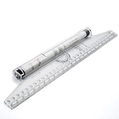 Tool Shop 12 Inch Roller Ruler Graduated in Both Inch and Metric