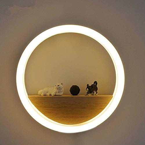 XFSE luz de la noche redonda LED lámpara de pared lámpara moderna minimalista dormitorio salón pasillo TV fondo lámpara de pared