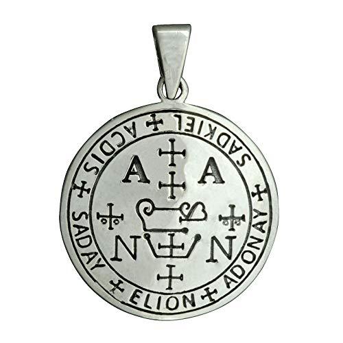 Sigil Of Sadkiel Anhänger Erzengel Siegelsiegel Solomon Amulett 925 Sterling Silber Beldiamo
