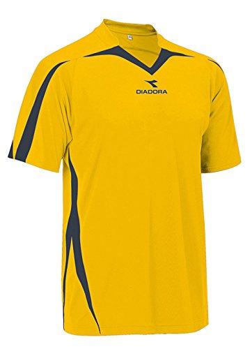 Diadora Soccer Men's Rigore Jersey, Gold/Black, Large