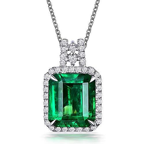Esmeralda princesa diamante colgante banquete de lujo compromiso colorido zircón collar joyería