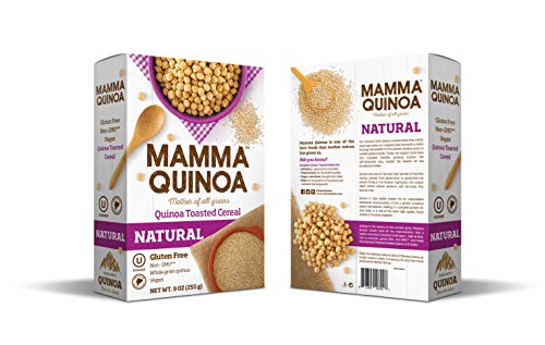 Mamma Quinoa Cereal, Mother of All Grains, Natural Flavor, Pack of 2, 9 Ounces Each