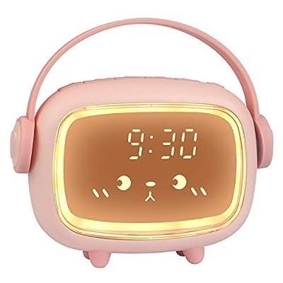♥ RELOJ DE ALARMA DIGITAL INTELIGENTE: Podemos configurar 2 alarmas en este reloj despertador para niños. Configuración de personalidad, puede controlar que suene todos los días, días laborables y de lunes a sábado. El tono de llamada de la alarma y ...
