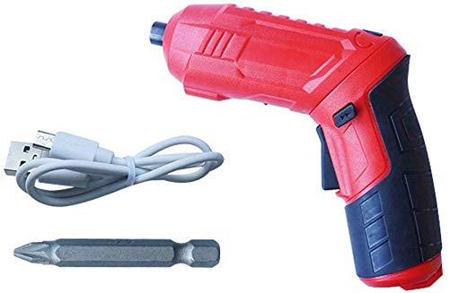 Famyfamy USB sin Cable Taladro Eléctrico Multifunción Eléctrico Destornillador Litio Batería Recargable Taladro Destornillador Herramientas Eléctricas - Rojo, A1-2pcs
