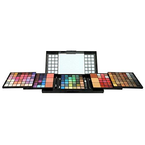 GLoss - Palette de maquillage format XXL en cascade - Visage et Lèvres et Ombres à paupières - incluant un miroir