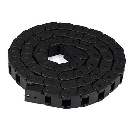 TUZUK Cadena de arrastre de cable semirremolcado flexible de plástico flexible Cadenas de torsión de cable de alambre de 10mm x 15mm para piezas de impresora 3D CNC máquinas eléctricas Router Mill, 1M