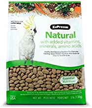 product image for ZuPreem Natural Bird Food for Large Birds, 3 lb Bag (2-Pack) | Made in The USA, Essential Vitamins, Minerals, Amino Acids for Amazons, Macaws, Cockatoos