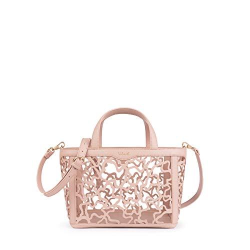 Tous Kaos Shock: Bolso de Mano para Mujer  Rosa  28 x 21 14 cm