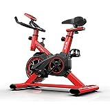 RR-YRF Cubierta De Bicicleta De Rotación Fijo, Bicicleta Estática con Pantalla LCD, Ultra Silencioso Dinámico Equipo De La Aptitud, 150 Kg / 330 LB De Carga, Versión Mejorada del Marco Grueso,Rojo