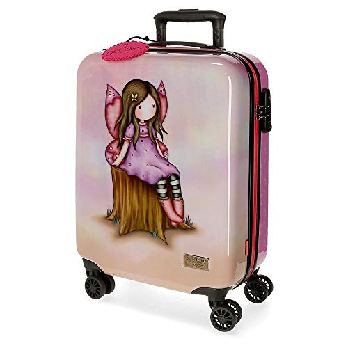 Santoro Gorjuss Wishing and Hoping Trolley cabina Multicolore 37x55x20 cms Rigida ABS Chiusura TSA 33L 2,6Kgs 4 doppie ruote Bagaglio a mano