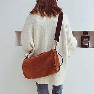 HAWEEL Foldable Travel Bag, Soft Velvet Shoulder Sports Gym Handbag Travel Bag (Black) (Color : Brown)