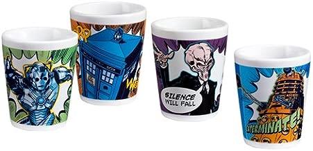 Doctor Who 4 Pc. Ceramic Mini Glasses 16018