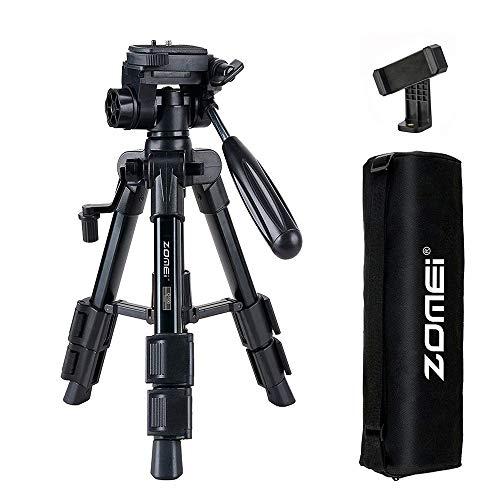 Mini treppiede ZOMEI Q100, treppiede per macchina fotografica Treppiede da viaggio portatile leggero in alluminio per smartphone Fotocamera DSLR