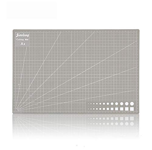 Wolfride カッターマット A3 両面カッティングマット PVC 両面印刷 カッティングマット 傷自動癒合機能 300mm×450mm×3mm プラモデル用工具 下敷き デスクトップ保護 グレー