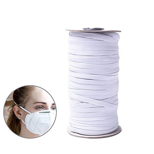 can Washable White 1//4 inch elsatic Bands for Sewing 109 Yards Width Braided Elastic Cord for Sewing