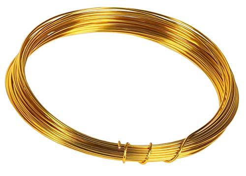 mumbi - Alambre para Manualidades (10 m, 1 mm, Aluminio), Color Dorado