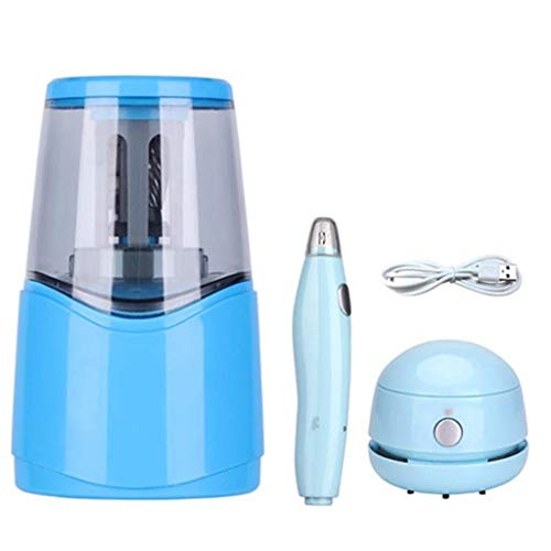 Office Products Electric Pencil Sharpener with Heavy-duty Helical Steel Blade, Battery/USB Operated Auto Stop Pencil Sharpener for No.2/Colored Pencils for School, Classroom, Office, Home Penci pencil