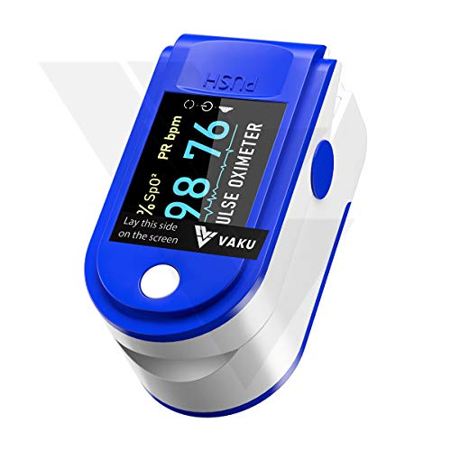 DR VAKU® Pulse Oximeter Fingertip, Multipurpose Digital Monitoring Pulse Meter Rate & SpO2 with OLED Digital Display [Battery included]