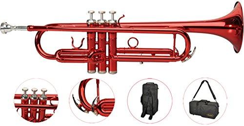 Steinbach Bb- Trompete in Rot mit Neusilber Ventilen - Bestangebot