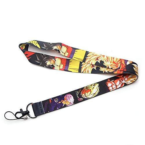 Bosi General Merchandise Dragon Ball Z, Llavero Goku, Super Saiyan, cordón de Dragon Ball, Cable de teléfono móvil, cordón de Llave, Correa para el Cuello