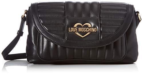 Love Moschino Precollezione SS21 | Borsa a Tracolla PU da Donna, Spalla, Nero, Normal