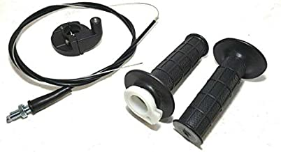 Twist Throttle Hand Grips+Cable+Clamp Compatible with Coleman CT200U Trail 200 196cc mini bike