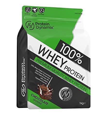 Protein Dynamix 100% Pure Whey Protein 1kg Premium Quality Protein Shake (Chocolate Brownie)