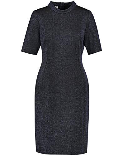 Gerry Weber Damen 280029-38050 Kleid, Mehrfarbig (Schwarz/Blau Gemustert 1080), (Herstellergröße:38)