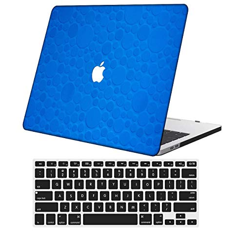 NKDCase Case for Newest MacBook Pro 13 inch Model A2159/A1989/A1706/A1708 Cut Out Design,Plastic Ultra Slim Light Hard Case Keyboard Cover Compatible MacBook Pro 13 inch,Blue Series 0683