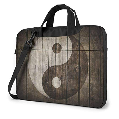 XCNGG Tai Chi Bagua Yin Yang Computer Bag Durable Laptop Briefcase Cushion Protective Messenger Bag for PC Notebook Tablet