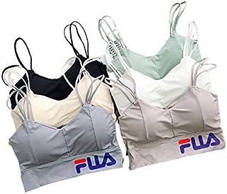 Fashiol Women's Crop Top Bralette Bra Bustier Padded Push Up Tank Top Sports Free Size (32 Till 36) Color (Grey, White, Bl...
