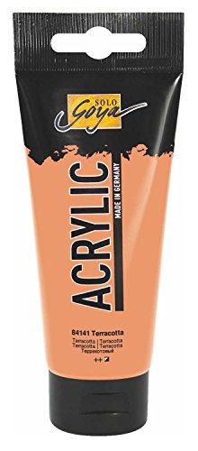 Kreul 84141 - Solo Goya Acrylic, 100 ml Tube in terracotta, cremige vielseitig einsetzbare Acrylfarbe in Studienqualität, auf Wasserbasis, schnell und matt trocknend, gut deckend, wasserfest