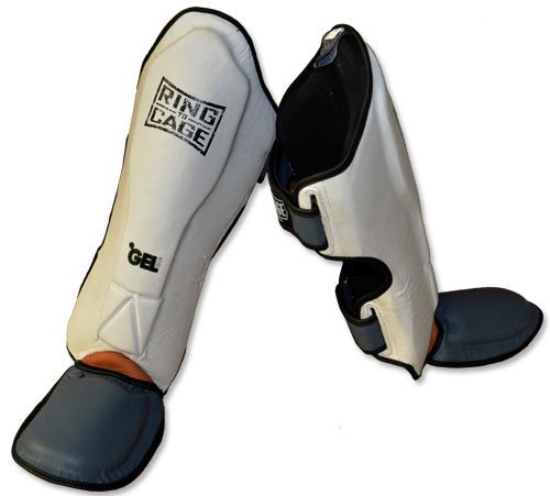 Ring to Cage Platinum GelTech MMA Muay Thai Shin Guard (Large)
