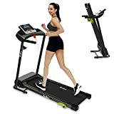 REDLIRO Walking Machine for Home Folding Jogging Treadmill with Incline Portable Space Saving Fitness Motorized Running Electric Indoor Exercise Workout Office Physical Training