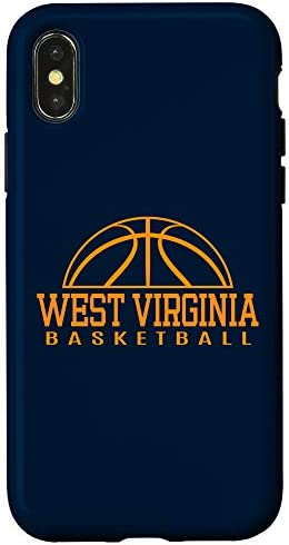 iPhone X XS West Virginia Basketball Player W Va Team Mountaineer State Case product image