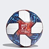 adidas 2019 MLS Official Match Ball White/Silver Metallic/Blue/Red Size 5