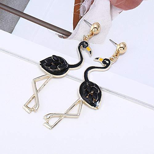 Nuevos pendientes de diamantes con gota de aceite Joyería europea y americana Pendientes de revistas de moda creativa Pendientes