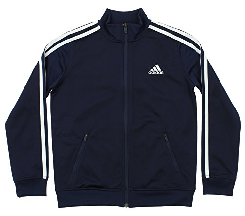 adidas Kids Boys Separates Training Track Jacket (Big Kids), Colligiante Navy/White LG (14-16
