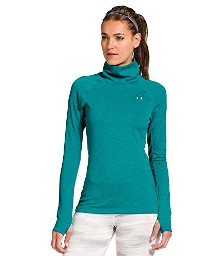 Under Armour UA GC Cozy Camiseta deportiva para mujer manga larga, cuello alto Aquädukt Talla:large