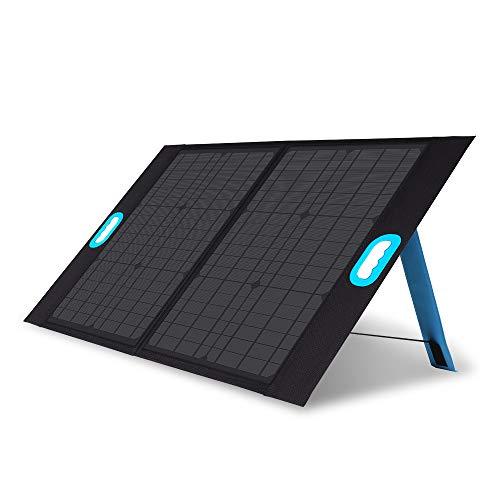 Renogy E.Flex - Cargador portátil de panel solar de 50 W plegable para exploradores de estaciones de energía, generadores, teléfonos inteligentes, tabletas con puertos USB para furgoneta, RV