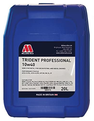 Millers Oils Trident 10w40 A3/B4 - Aceite semisintético para motor (20 L)