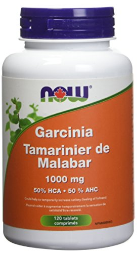 NOW Garcinia 1,000mg 50% HCA 120 Tablets, 40 g